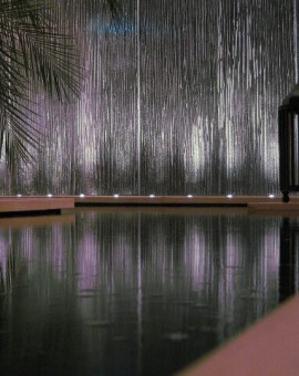 Gleaneagles Uplit glass wall
