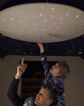 fiber optic star ceiling ring star cloth childrens room
