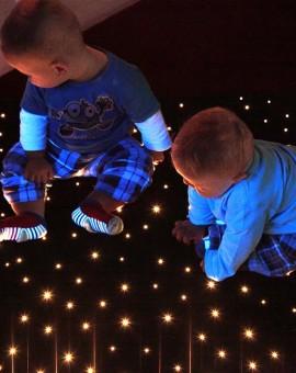 fiber optic sensory carpet children playing star carpet
